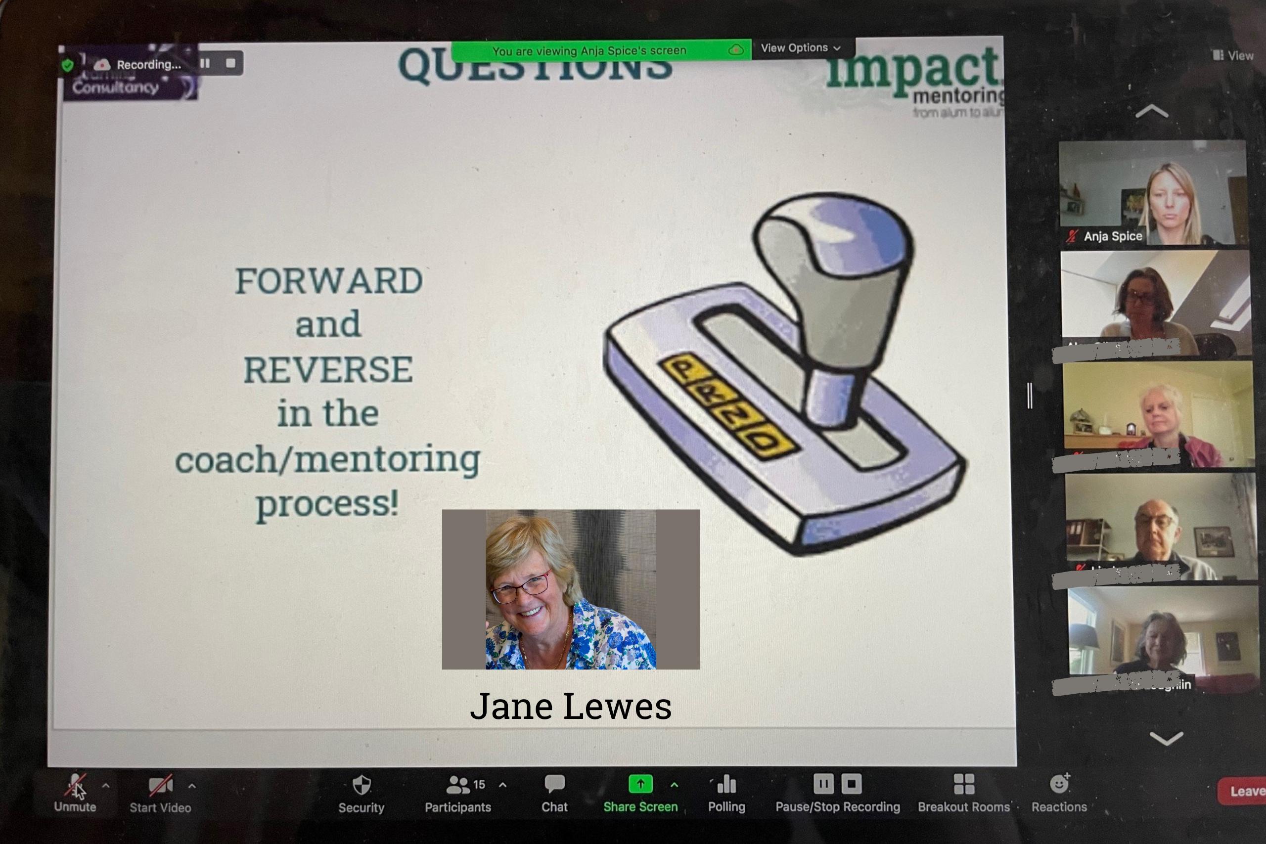 Jane Lewes Mentor event
